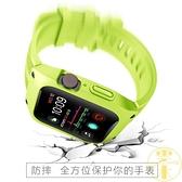 適用Apple Watch4智能手表三防運動硅膠錶帶蘋果防摔腕帶【雲木雜貨】