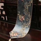 桌巾中式禪意桌旗中國風新中式古典桌布客廳餐桌電視櫃茶幾布藝床旗巾 嬡孕哺