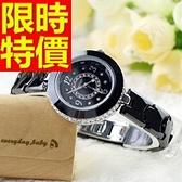 陶瓷錶-可愛撫媚時尚女腕錶3色55j23[時尚巴黎]