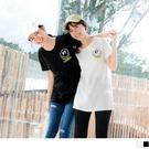 《AB12765》台灣製造.高含棉潮流微笑印花長版T恤上衣 OrangeBear