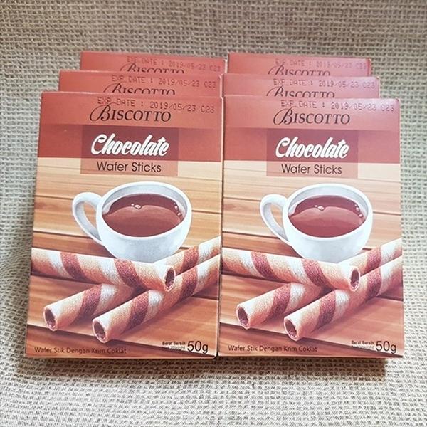 好圈子巧克力捲心酥 1000g(20盒/組)【8993083935050】(印尼零食)