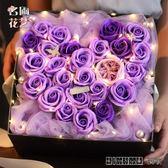 情人節禮品帶燈仿真花玫瑰花肥皂花
