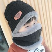 兒童帽子秋冬韓版男童加絨護耳寶寶冬季保暖帽女童圍巾兩件套裝潮