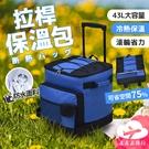 【台灣現貨】43L拉桿保溫包 防水野餐袋 大容量野餐包 保冷袋 旅行冰包【HC111】99750走走去旅行