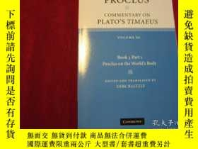 二手書博民逛書店Proclus:罕見Commentary on Plato s