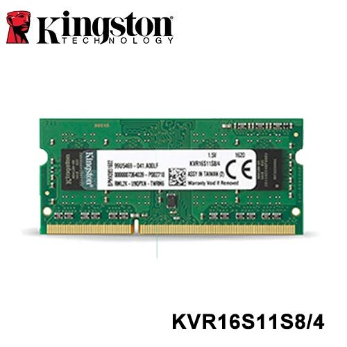 Kingston NB DDR3 1600 4G 金士頓 KVR16S11S8/4 筆記型記憶體 單面顆粒