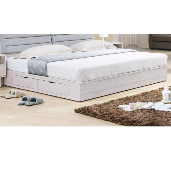 【森可家居】珊蒂6尺四抽收納床底(雙邊) 7HY104-6 雙人加大 抽屜床底箱