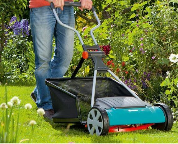 德國進口GARDENA嘉丁拿 園藝除草機手推式割草機修剪草坪小型家用 MKS免運