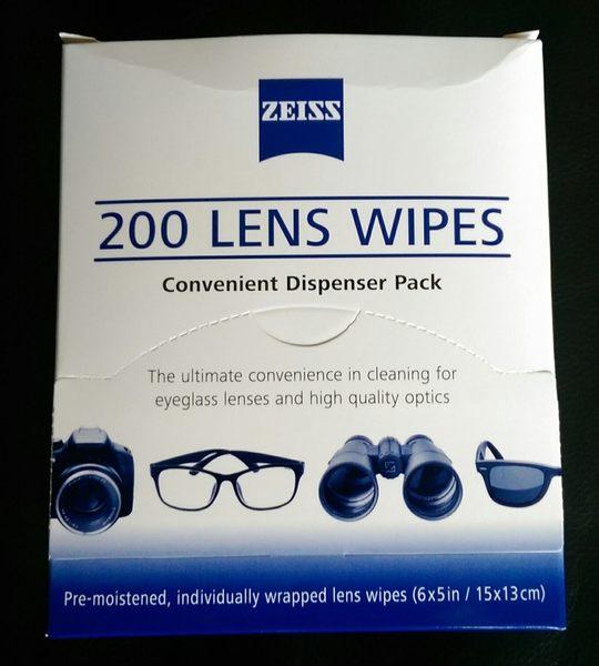 蔡司 ZEISS 光學濕式拭鏡紙 200入 ~ 200 LENS CLEANING WIPE 【200張】WIPES 2019年 08月 製造