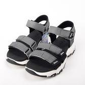 Skechers   D Lites-Cross Breeze 涼鞋 記憶鞋墊 輕便 微增高 31657BLK