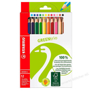 STABILO green color環保認證大三角色鉛筆*6219/2-12