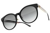 GUCCI太陽眼鏡 GG0416SK 001 (黑藍紅白-漸層灰藍鏡片) 經典配色LOGO款 # 金橘眼鏡