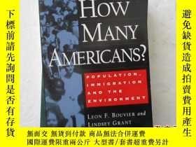 二手書博民逛書店HOW罕見MANY AMERICANS?POPULATION I
