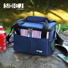 5L保溫袋 戶外露營  生活采家 牛津布 肩背手提 內側鋁箔 防水保溫方型 包包 便當包#52002