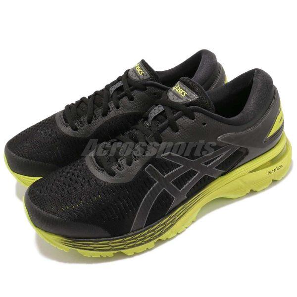 Asics 慢跑鞋 Gel-Kayano 25 黑 綠 全新穩定科技 輕量透氣 運動鞋 男鞋【PUMP306】 1011A02-9001