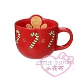 ♥小花花日本精品♥ 星巴克聖誕節限定薑餅人拐杖糖馬克杯 飲料杯 聖誕節節日限定款 01024203