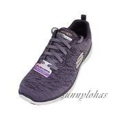 SKECHERS (女) FLEX ADVANTAGE 3.0 運動 健走鞋 針織 13062PLUM 紫 [陽光樂活]