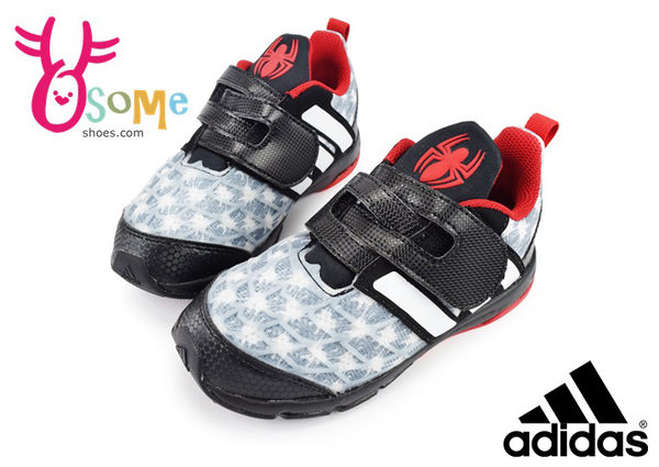 adidas 小童鞋 蜘蛛人 聯名限量 經典 Marvel Spider-Man CF I 輕量慢跑鞋O9304#黑灰◆OSOME奧森童鞋/小朋友