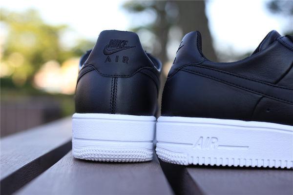Nike AIR FORCE1 ULTRAFORCE  經典 全黑白底 皮格版 輕量  男 (布魯克林) 845052-001 2016/7月