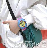 手錶女 運動電子手錶女學生韓版簡約潮流休閒夜光防水 【七月好物】