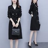 大衣外套L-4XL秋裝大碼時尚洋氣新款風衣外套200斤寬松顯瘦中長款外套M031依佳衣