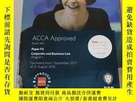 二手書博民逛書店ACCA罕見Approved Study Text Paper F4 Corporate and Business