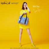 Kipling Emoji系列香蕉吊飾 條紋圖案手提包-中