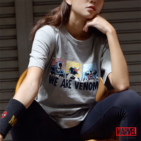 MARVEL漫威服飾 猛毒反派 落肩短袖上衣 寬鬆版型T恤 棉質 [M201303]