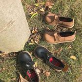娃娃鞋日系軟妹原宿鞋子女正韓學生百搭大頭小皮鞋森系娃娃鞋女 2色可選