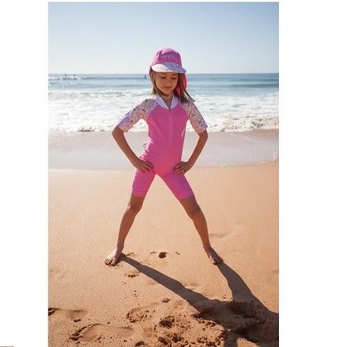 兒童泳衣 一件式連身泳衣 好萊塢媽咪也風靡 Xtra life萊卡 澳洲鴨嘴獸 UPF 50+ 抗UV (小女2-8歲)