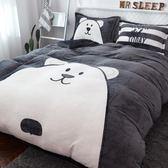床包組  加厚保暖法蘭絨四件套珊瑚絨冬季1.8m床上用品 mc3369『東京衣社』tw