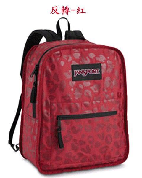 JANSPORT 經典校園後背包 雙面反轉後背包-紅/虎斑紋-JS43185(促銷價)