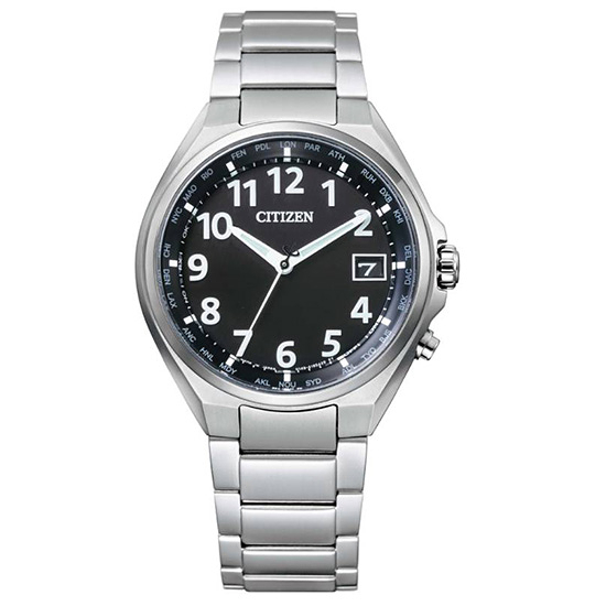 【台南 時代鐘錶 CITIZEN】星辰 Eco-Drive 雅痞紳士品味 鈦金屬萬年曆 光動能腕錶 CB1120-50F 黑 38mm