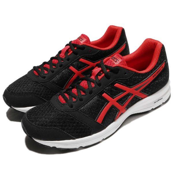 Asics 慢跑鞋 Patriot 9 黑 紅 白底 輕量化 運動鞋 男鞋 女鞋 【PUMP306】 T823N9023