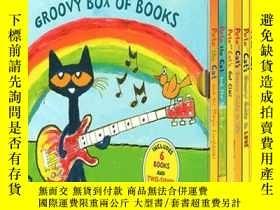 二手書博民逛書店英文原版罕見Pete the Cat Groovy Box Of