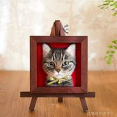 定制 文藝范仿真貓咪形象定制相框羊毛氈手工成品材料包寵物紀念品ins