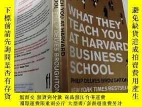 二手書博民逛書店WHAT罕見THEY TEACH YOU AT HARVARD