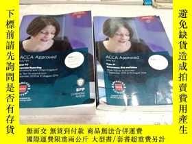 二手書博民逛書店ACCA罕見Approved study text paper p1p2(ACCA批準的學習文本文件)1 2兩冊合