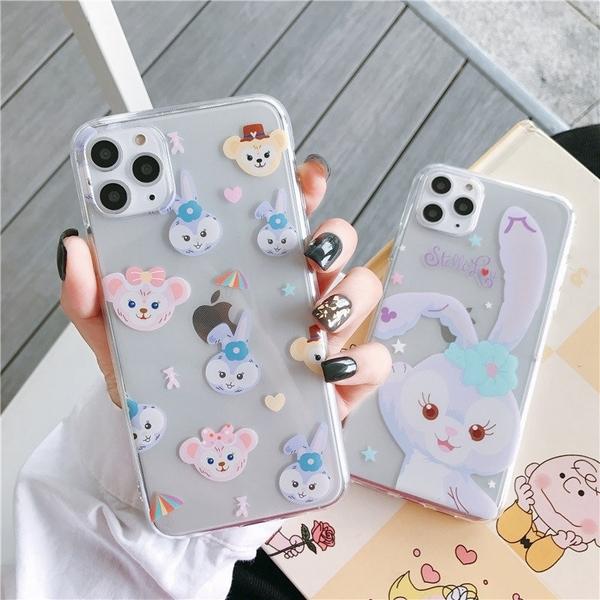 紫色兔子 iPhone 11 pro Max 透明手機殼 達菲熊 星黛露 iPhone11 保護殼保護套 全包邊軟殼