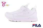 FILA 中大童運動鞋 男女童 學生鞋 皮革 慢跑鞋 O7631#白色◆OSOME奧森童鞋
