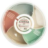 日本干果盤分格帶蓋堅果盒創意客廳水果托盤喜慶糖果盤零食果盤盒