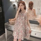 初心 碎花雪紡洋裝【D7129】 韓系 無袖 洋裝 洋裝 晚宴 小洋裝 實品拍攝