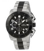 瑞士Invicta Pro Diver 潛水員系列 黑色碳纖維錶盤 三眼男錶23408瑞士錶 計時碼表 男士手錶