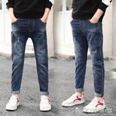 兒童牛仔褲男童12男15歲秋裝大童褲子新款長褲韓版潮童裝加絨 晴天時尚館