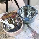 保溫碗帶湯碗輕便不銹鋼泡面碗飯盒便當盒【櫻田川島】