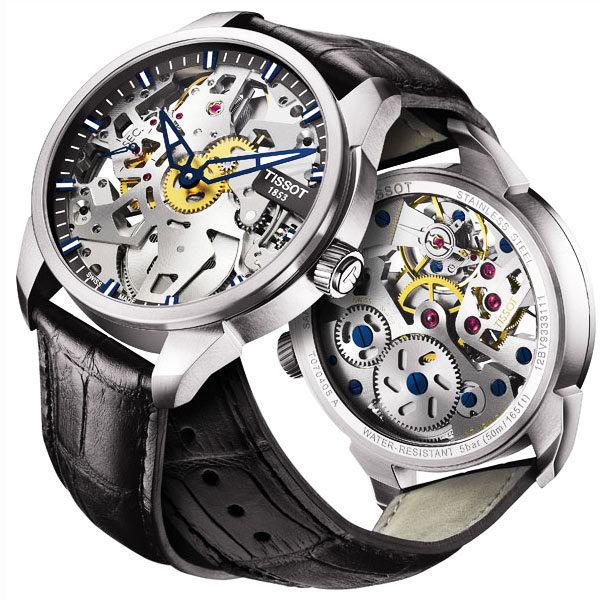 TISSOT 天梭 T-Classic T-Complication 鏤空手動上鍊手錶-43mm T0704051641100