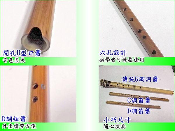 洞簫 [網音樂城] 六孔 南簫 短簫 台製 台灣製造 輕便型 D調 笛簫
