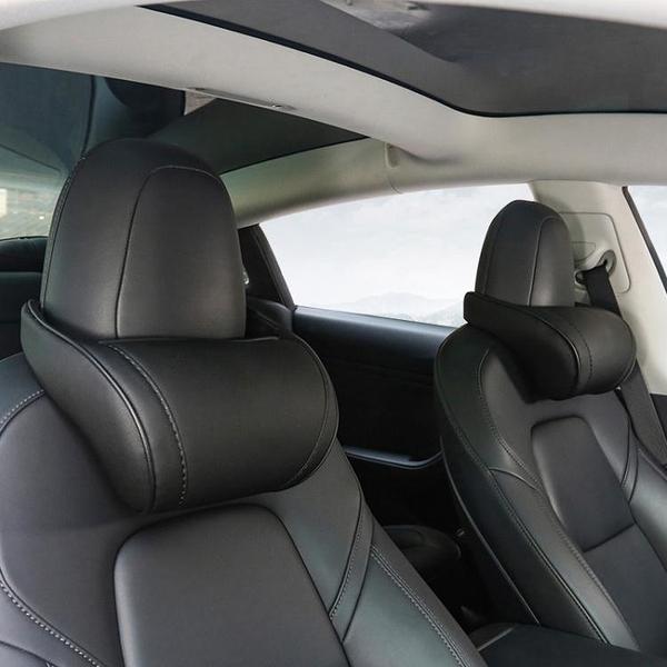 適用于特斯拉頭枕model3/Y/X/S護頸枕汽車載腰靠枕記憶棉改裝配件 超商