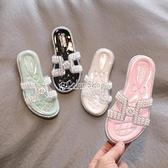 兒童拖鞋 女童拖鞋2010夏新品時尚韓版兒童外穿珍珠公主鞋中大童洋氣涼拖鞋 快速出貨