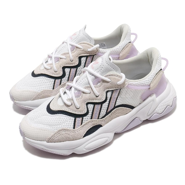 adidas 休閒鞋 Ozweego W 灰 紫 女鞋 反光設計 老爹鞋 運動鞋 【ACS】 FY3129